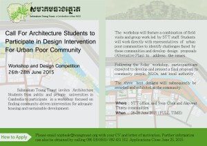 "Three -day workshop on  ""Design Intervention for Urban Poor Community"""