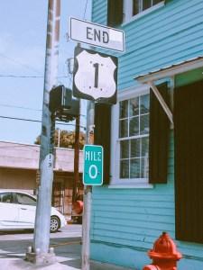 Mile marker 0 sign in the florida keys
