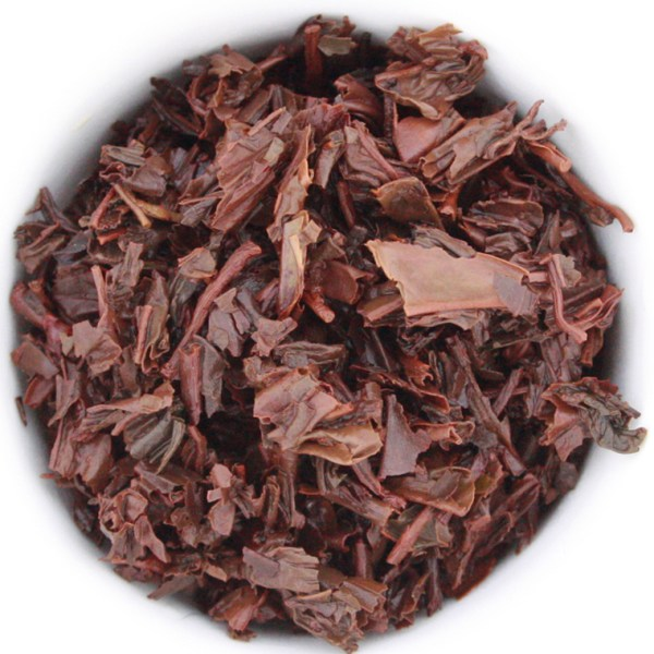 Black Loose Leaf Tea wet leaf
