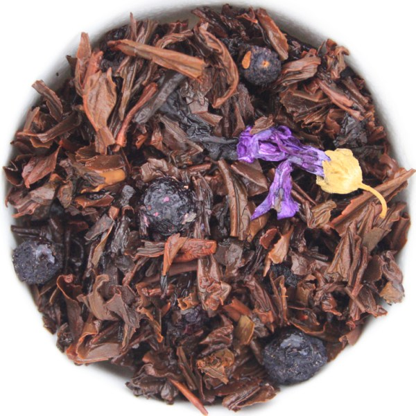 Blueberry Thrill Loose Leaf Black Tea wet leaf