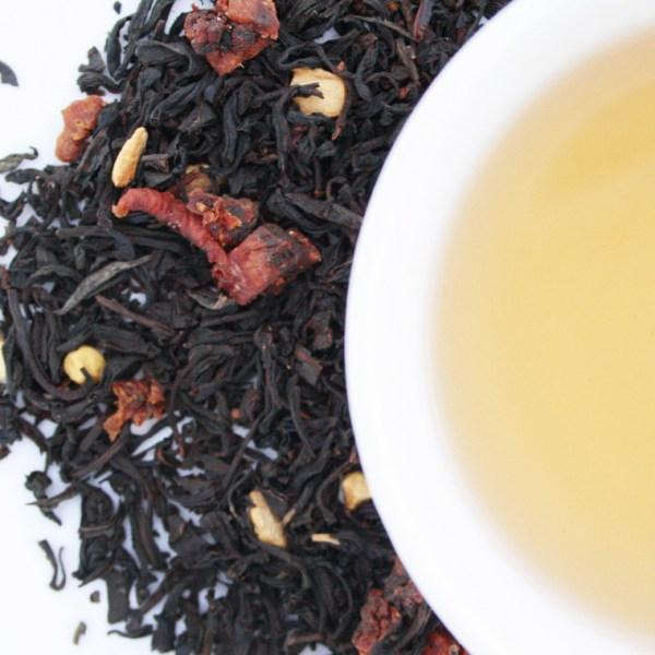 Ginger peach Loose Leaf Black Tea brewed tea