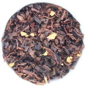 Ginger Peach Loose Leaf Black Tea wet leaf