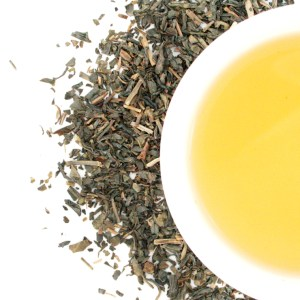 Green Loose Leaf Tea brewed tea