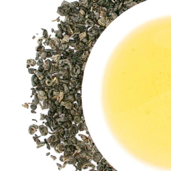 Gunpowder Loose Leaf Green Tea brewed tea