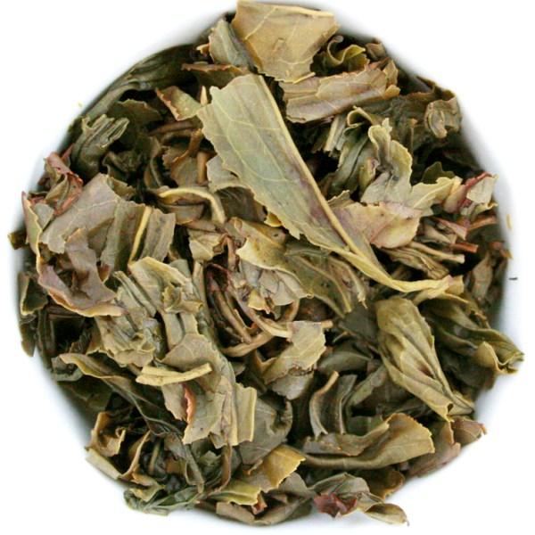 Gunpowder Loose Leaf Green Tea wet leaf