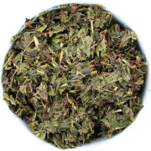 Lemon Mint Herbal Blend wet leaf