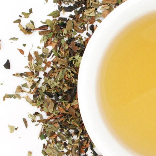 Midnight Mint Loose Leaf Black Tea brewed tea
