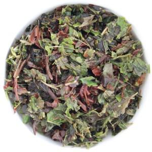 Midnight Mint Loose Leaf Black Tea wet leaf
