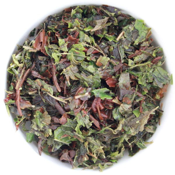 Midnight Mint Loose Leaf Black Tea wet leaf