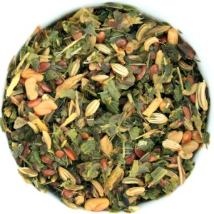 Peppy Mint Herbal Blend wet leaf