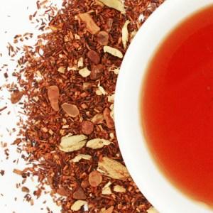 Ruby Red Chocolate Chai brewed tea