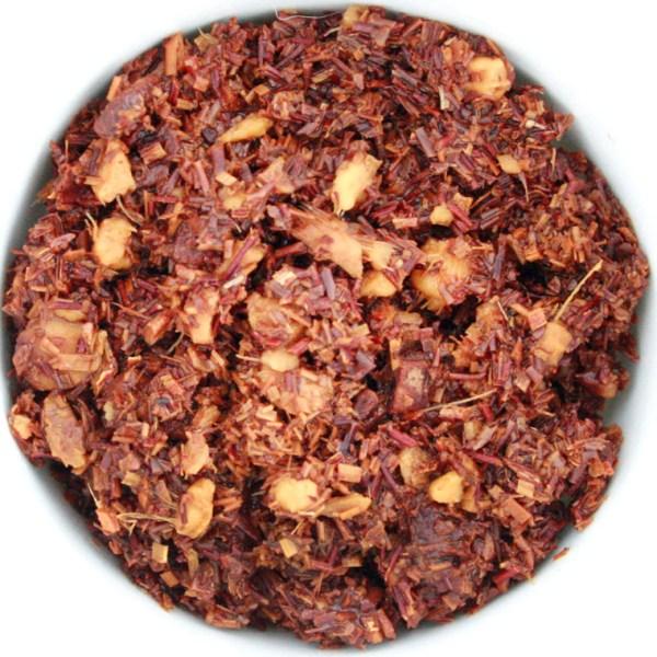 Ruby Red Chocolate Chai wet leaf