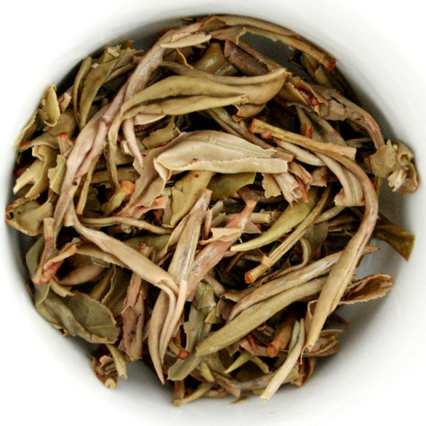 Snow Buds Loose Leaf White Tea wet leaf