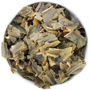 Tropical Breeze Loose Leaf Green Tea wet leaf