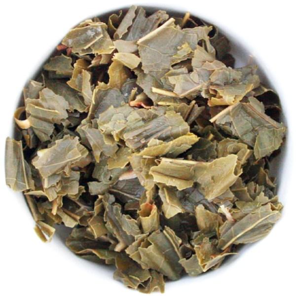 Tropical Breeze Loose Leaf Green Tea wet leaf