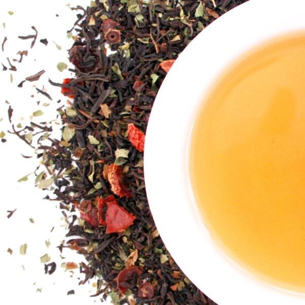 Winter Wellness Loose Leaf Black Tea brewed tea