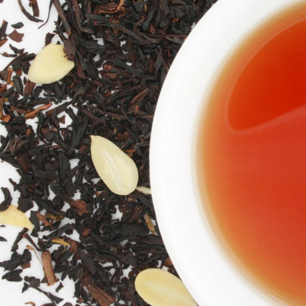 Caramel Almond Toffee Loose Leaf Black Tea brewed tea