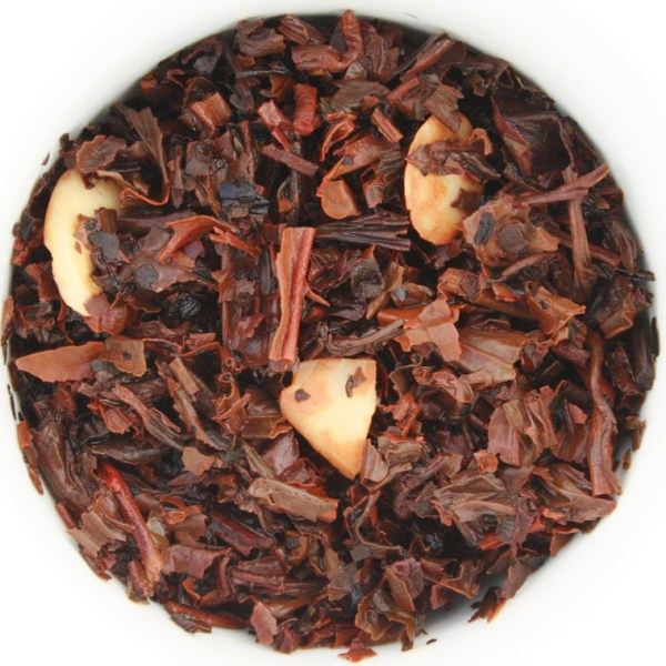 Caramel Almond Toffee Loose Leaf Black Tea wet leaf