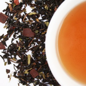 Chocolate Velvet Loose Leaf Black Tea brewed tea