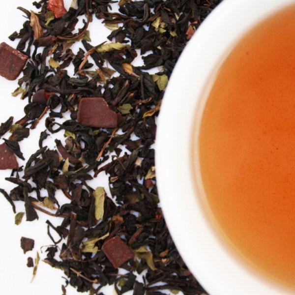 Chocolate Velvet Loose Leaf Black Tea brewed tea