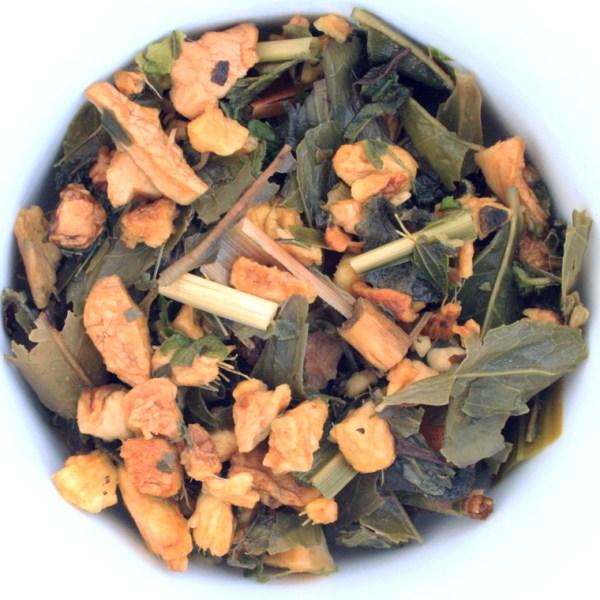 Moscow mule Loose leaf Green Tea, Wet Leaf, Small Batch Blend