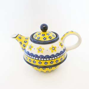 Polish Pottery Teapot Yellow