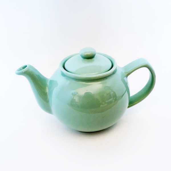 small ceramic teapot mint color