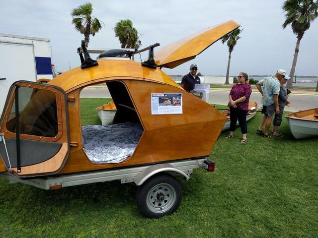 Teardrop #1 at Port Aransas Wooden Boat Festival