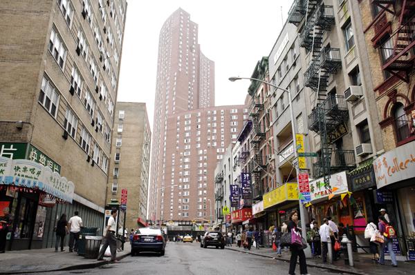 Bayard at Elizabeth Street in Chinatown, NYC