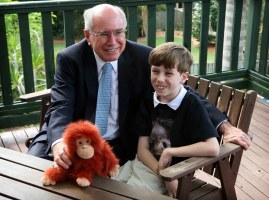 Daniel and William Clarke having a visit from the Prime Minister