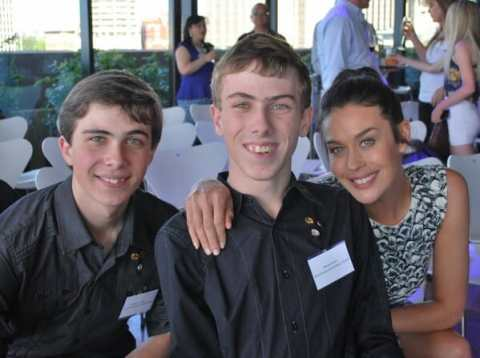 Daniel and William and Megan Gale at the 2013 NSW Pride of Australia