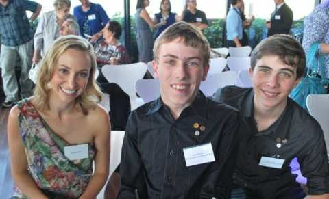 Daniel and William with Dr Lisa Chimes at the 2013 NSW Pride of Australia