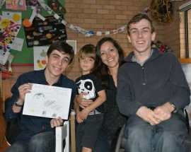 LtoR: William, Arno, Zuzanna (Arno's mum) and Daniel