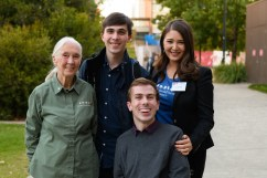 Daniel and william with jane goodall