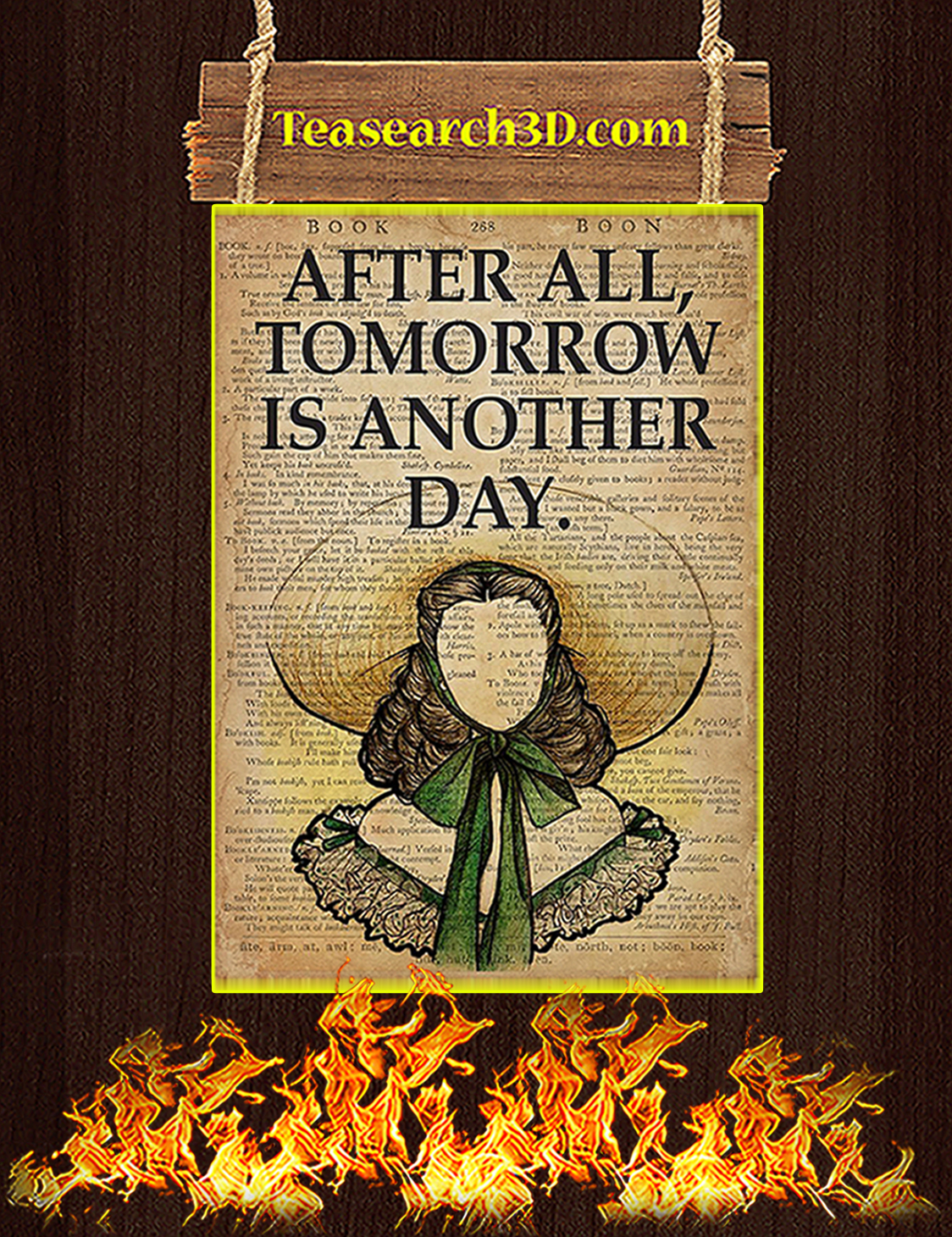 TREND Book after all tomorrow is another day poster