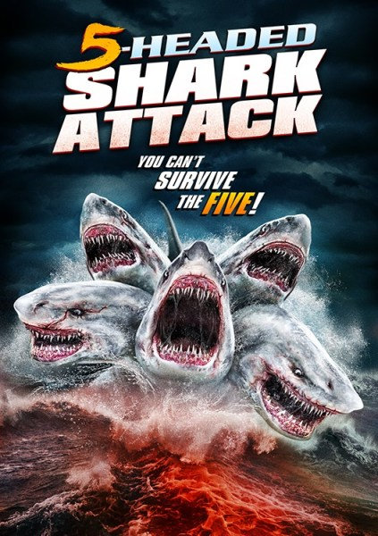 5 Headed Shark Attack Movie Poster