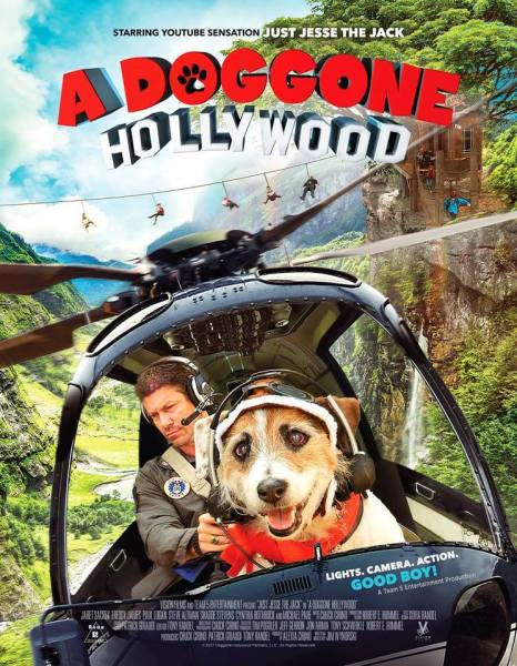 A Doggone Hollywood Movie Poster