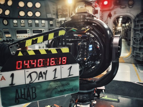 Aquaman Film Clapperboard