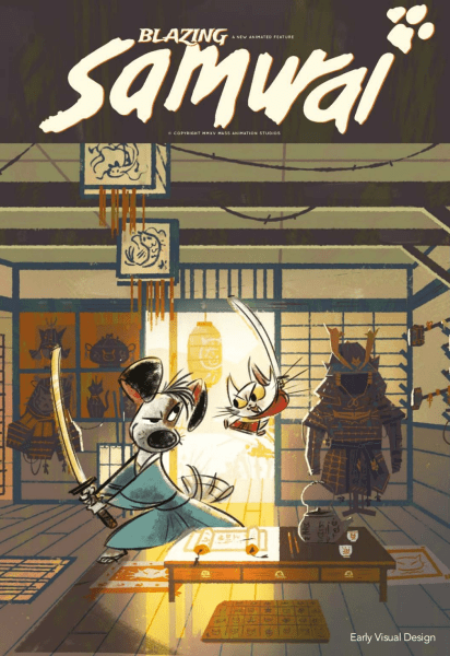 Blazing Samurai Early Visual Design
