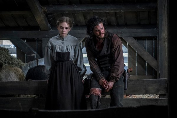 Brimstone movie starring Dakota Fanning, Kit Harrington and Guy Pearce