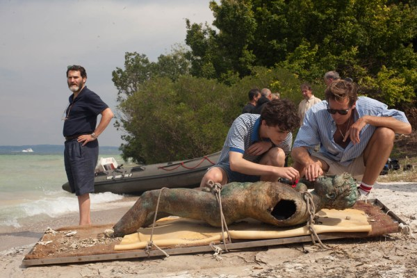 Michael Stuhlbarg, Timothée Chalamet and Armie Hammer appear in Call Me by Your Name by Luca Guadagnino.