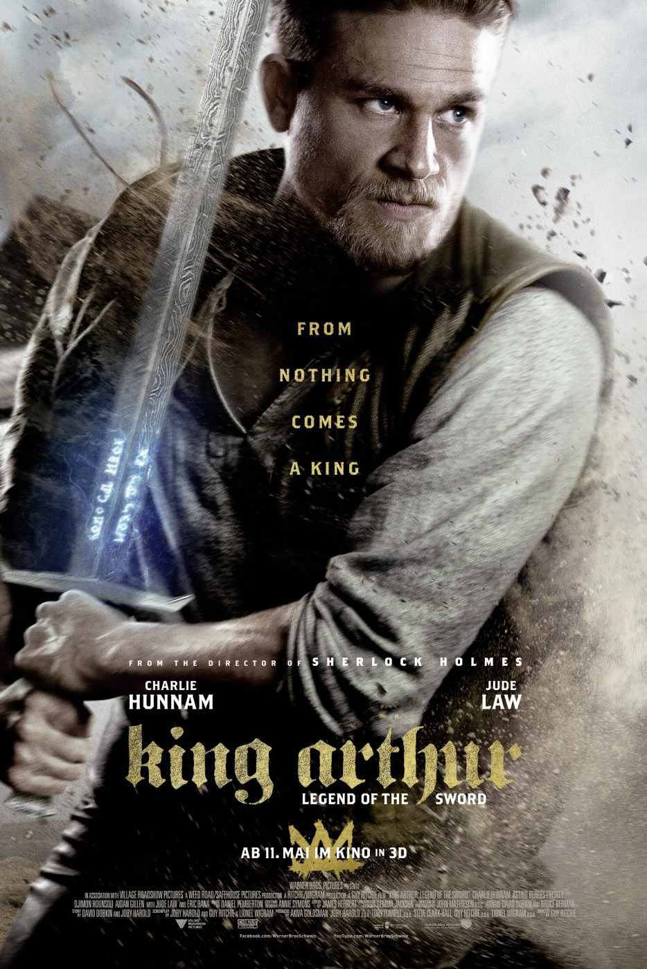 Awesome Charlie Hunnam King Arthur Teaser Trailer Short Hairstyles Gunalazisus