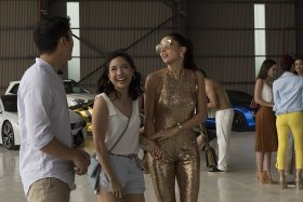 Constance Wu, Sonoya Mizuno, And Henry Golding In Crazy Rich Asians