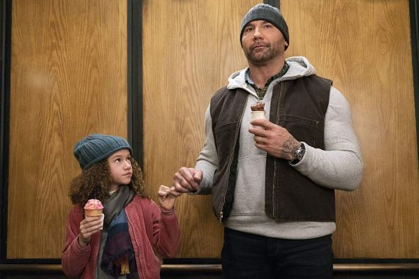 Dave Bautista And Chloe Coleman In My Spy