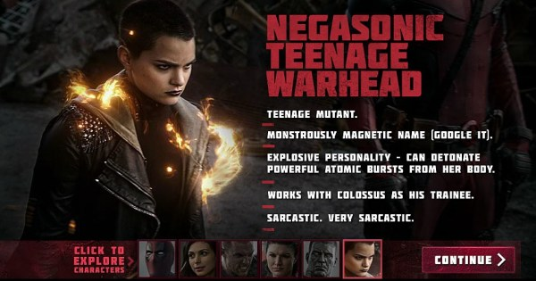 Deadpool - Brianna Hildebrand as Negasonic