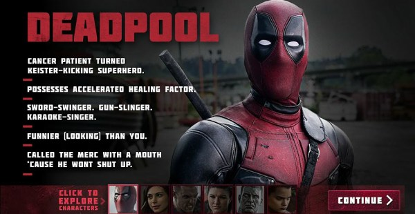 Deadpool - Ryan Reynolds as Wade Wilson  Deadpool