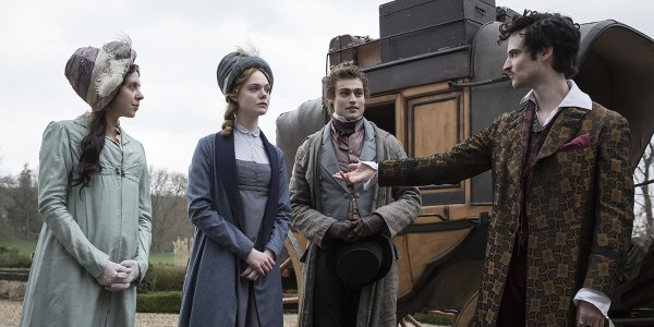Elle Fanning, Douglas Booth, Bel Powley, and Tom Sturridge - Mary Shelley Film