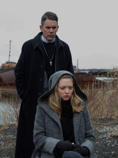 First Reformed movie - Ethan Hawke and Amanda Seyfried
