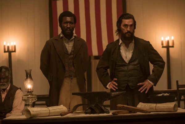 Mahershala Ali andMatthew McConaughey star in FREE STATE OF JONES movie
