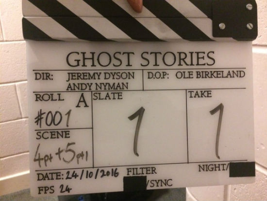 Ghost Stories Film Clapperboard